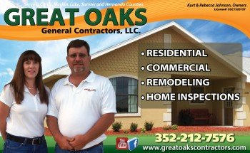 Great Oaks General Contractors of Inverness, Florida partners with Suncoast Media Pros