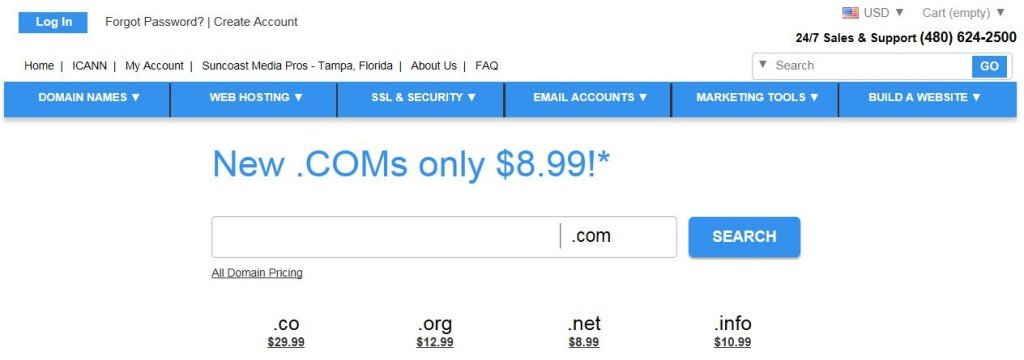 Buy Domain Names from Suncoast Media Pros
