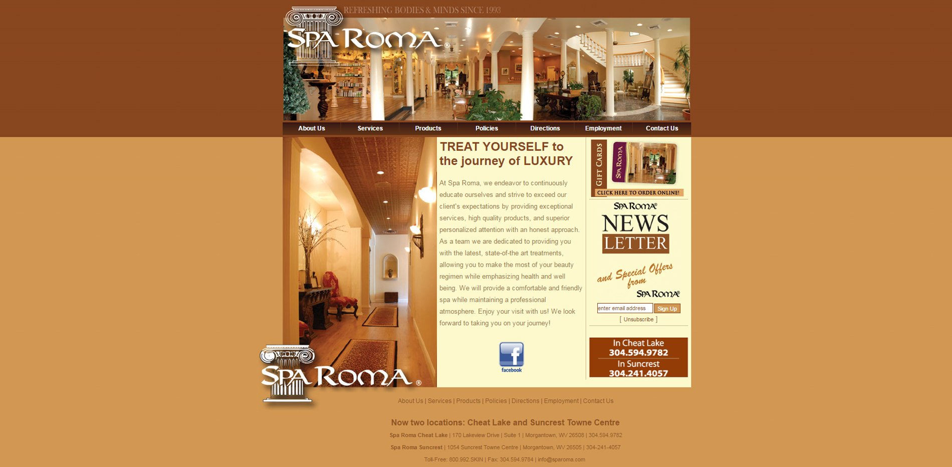 Suncoast Media Pros - Spa Roma Morgantown, West Virginia